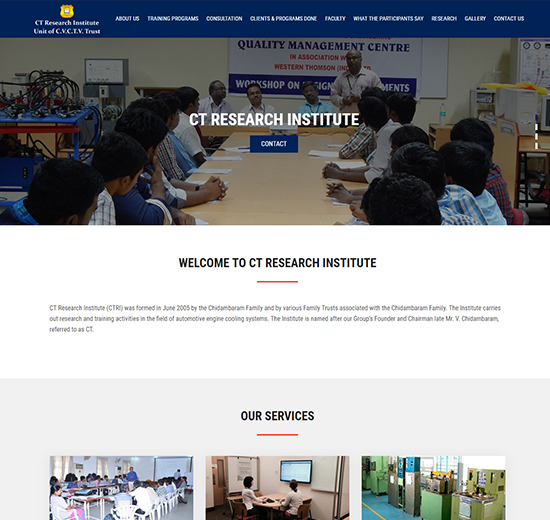 Website - Research Insititute